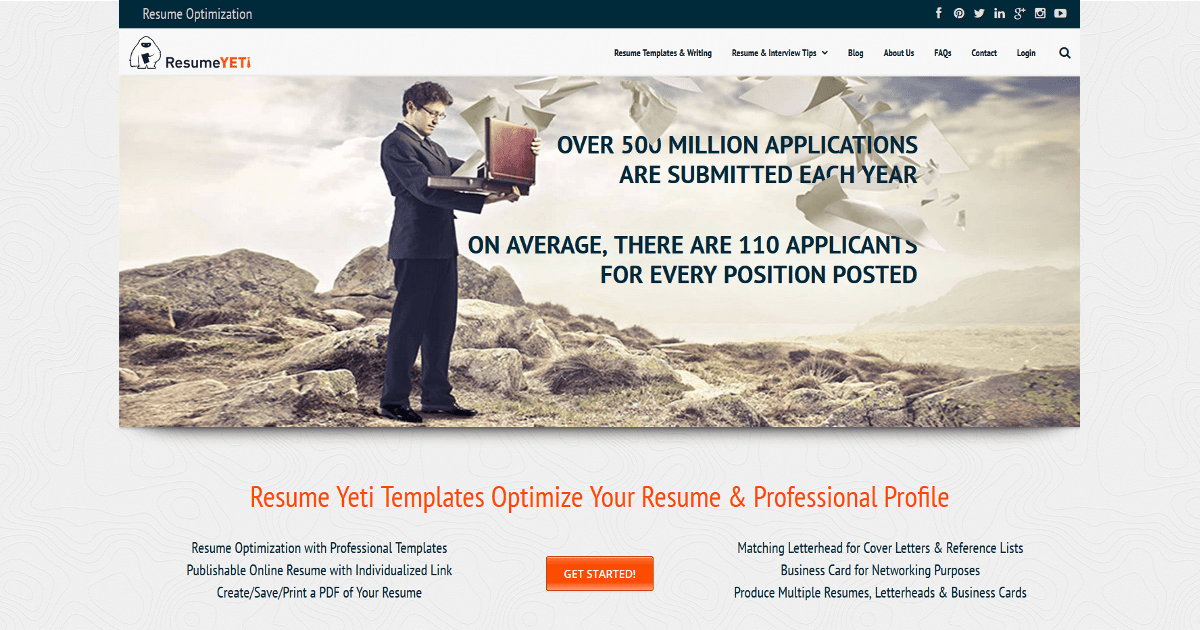 resume yeti resume templates optimized for ats online resume builder - Online Resume